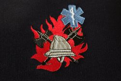 sweater met logo BW/ambulancier + korpsnaam + naam