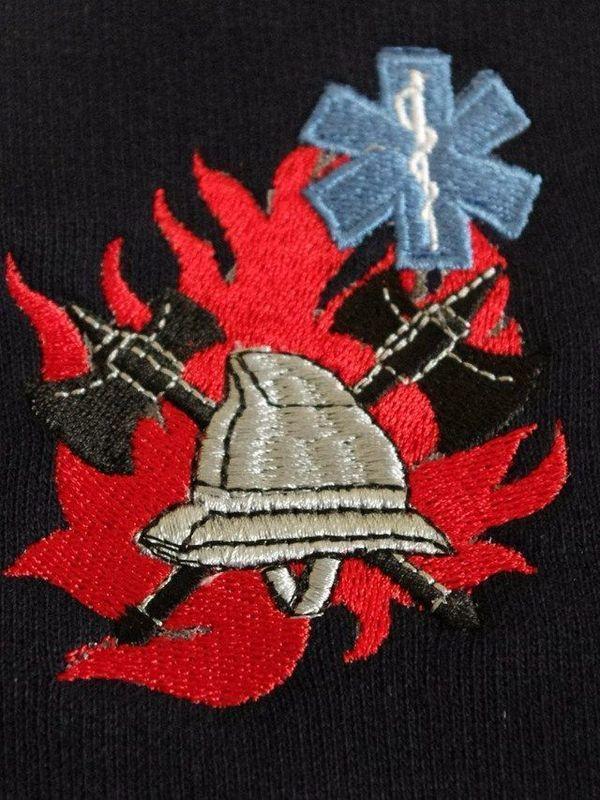 sweater met logo BW/ambulancier + korpsnaam of naam