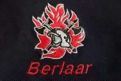 brandweerpolo met geborduurd logo en korpsnaam of naam