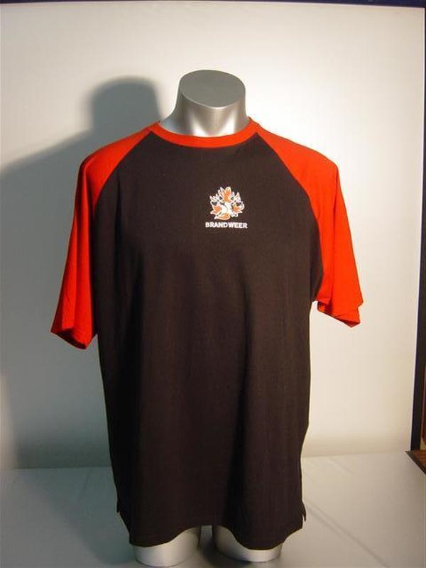 T-shirt 2-kleurig met brandweerlogo