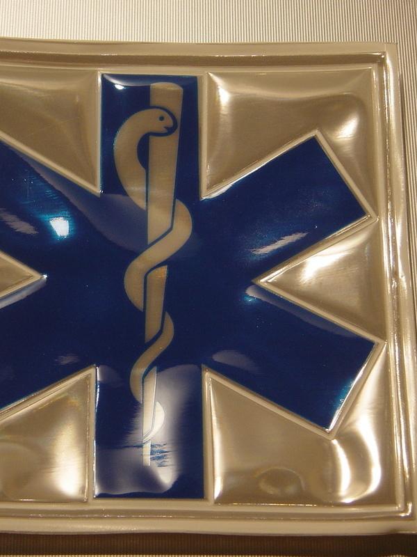 rugkenteken reflecterend ambulancier