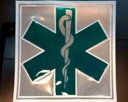 rugkenteken reflecterend verpleegkundige