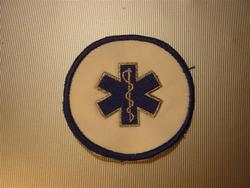 Badge star of life geborduurd