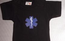 Mini t-shirt star of life met kapstokje