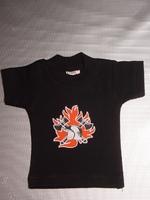 Mini t-shirt voorkant logo brandweer achterkant Brandweer met kapstokje