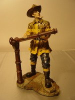 Brandweerman met blusser