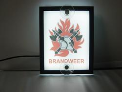 Verlicht autobordje logo brandweer