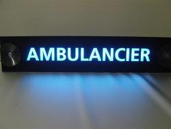 Verlicht autobordje Ambulancier