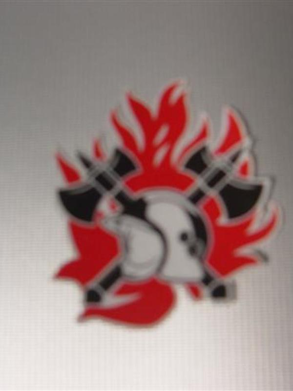 Sticker brandweer uitgesneden 5 cm