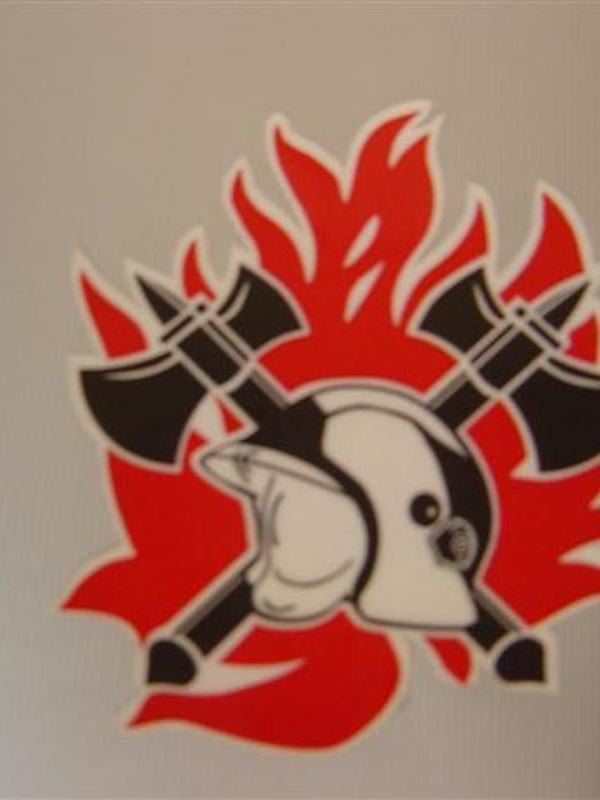 Sticker brandweer uitgesneden 10 cm