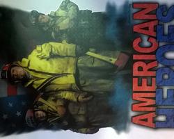 t-shirt met Amerikaanse opdruk vooraan : American Heroes1