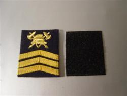 graadaanduiding met velcro sergeant-majoor
