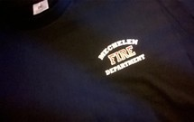 """T-shirt met gepersonaliseerde """"Fire Department"""""""