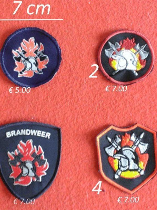 badges brandweer model 1