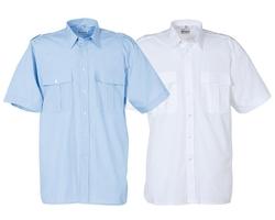 uniformhemd lange mouw wit of livht-blauw
