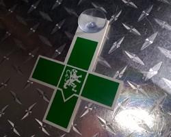 kenteken verpleegkundige uitgesneden pvc met één zuignap