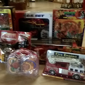 Pakket brandweerspeelgoed uitverkooppromotie