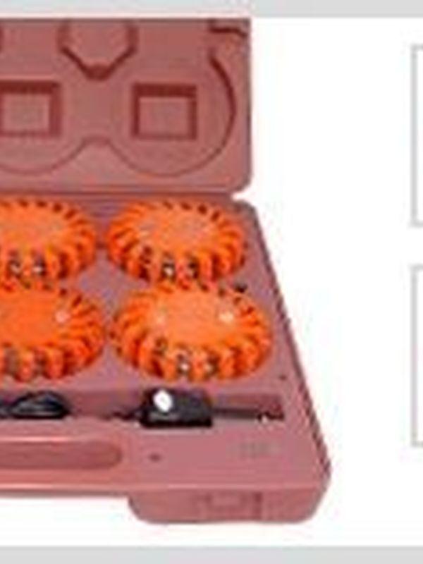MegaFlare LEDs Safety ligths KOFFER ( Rood of oranje)