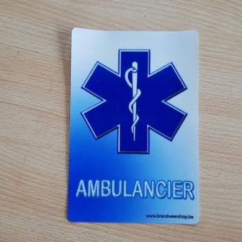 Afneembare statische sticker ambulance 5 stuks