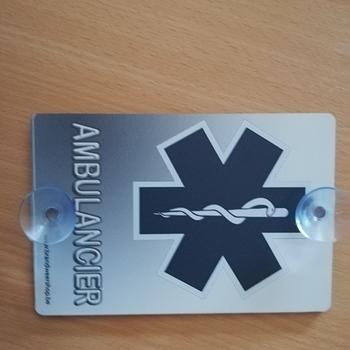 Autobordje ambulancier grijs