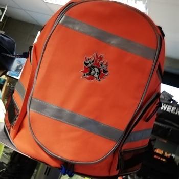 Rugzak met geborduurd brandweerlogo