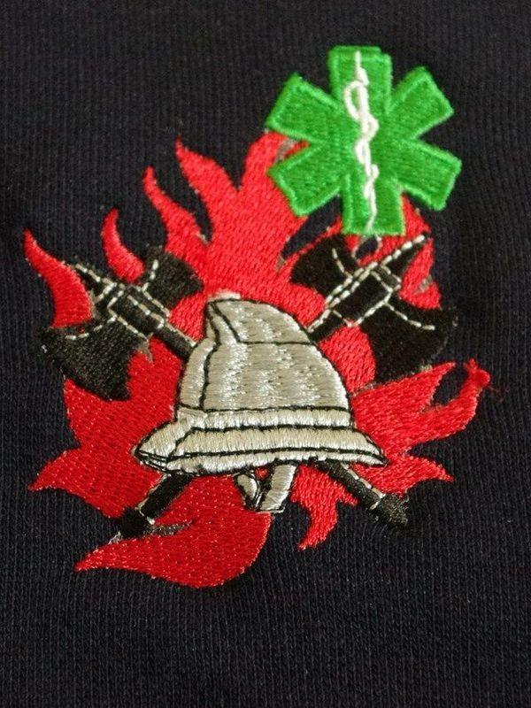 polosweater met geborduurd logo BW/verpleegk